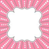 Quadro da beira do cartão do dia de Valentim Foto de Stock
