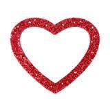 Quadro da beira do coração Fotografia de Stock Royalty Free