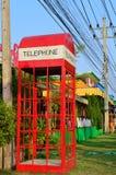 Quadro da caixa de telefone vermelha imagem de stock