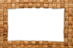 Quadro da cesta de weave Foto de Stock Royalty Free