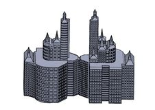 Quadro da constru??o cinzenta ilustração royalty free