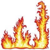 Quadro da flama do incêndio ilustração royalty free