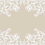 Quadro da flor branca Imagens de Stock Royalty Free