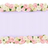 Quadro da flor do casamento do vetor Fotografia de Stock