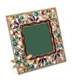 Quadro da foto colorida embutido com os cristais de rocha fotografia de stock royalty free