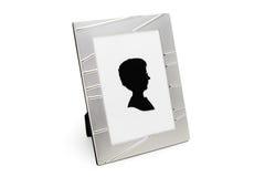 Quadro da foto com o retrato (isolado no branco) Imagem de Stock