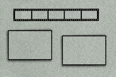 Quadro da foto com tira do filme e dois quadros retangulares Fotografia de Stock