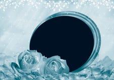 Quadro da foto das rosas fotos de stock