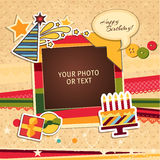 Quadro da foto do aniversário Fotos de Stock Royalty Free