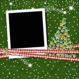 Quadro da foto do Natal imagens de stock
