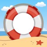 Quadro da foto do verão do boia salva-vidas Imagens de Stock Royalty Free