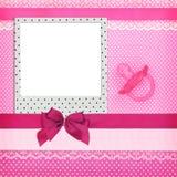 Quadro da foto e chupeta cor-de-rosa Imagens de Stock Royalty Free