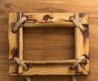 Quadro da foto na madeira imagens de stock