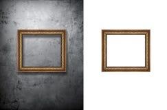 Quadro da foto no muro de cimento Imagens de Stock Royalty Free