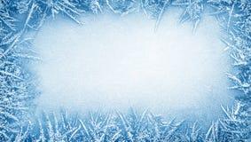 Quadro da geada do gelo Fotografia de Stock