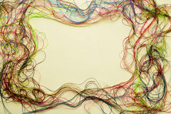 Quadro da linha de costura colorida - copie o espaço e o fundo Fotografia de Stock Royalty Free