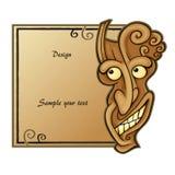 Quadro da máscara do demônio Fotografia de Stock Royalty Free