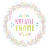 Quadro da natureza para seu projeto com flores ilustração do vetor