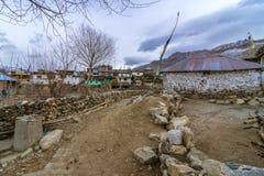 Quadro da natureza - vila de Nako, vale de Kinnaur, Himachal Pradesh fotos de stock