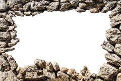 Quadro da parede de pedra com furo vazio ilustração do vetor