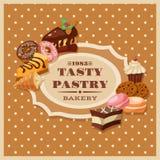 Quadro da pastelaria do vintage Imagens de Stock Royalty Free