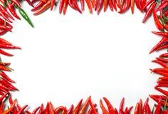 Quadro da pimenta vermelha Imagem de Stock
