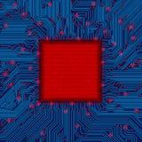 Quadro da placa de circuito Imagens de Stock