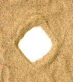 Quadro da praia da areia Imagens de Stock