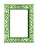 quadro da rosa do verde isolado no trajeto branco do fundo e de grampeamento foto de stock royalty free