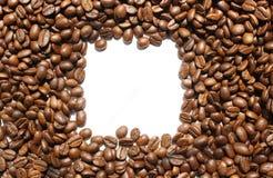 Quadro dado forma quadrado dos feijões de café Fotografia de Stock Royalty Free
