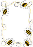 Quadro das abelhas do voo ilustração do vetor