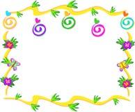 Quadro das espirais, das flores, e das borboletas Imagem de Stock Royalty Free