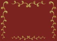 Quadro das filiais do ouro Imagens de Stock