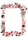 Quadro das flores abstratas Imagem de Stock