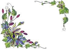 Quadro das flores e das bagas abstratas Imagens de Stock