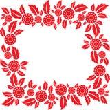 Quadro das flores e das folhas Imagem de Stock Royalty Free