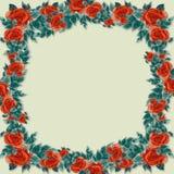 Quadro das flores e das folhas Fotos de Stock Royalty Free