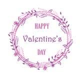 Quadro das flores e das plantas, cartões bonitos, convites do casamento, dia de Valentin, aniversário, dia do ` s da mãe ilustração stock
