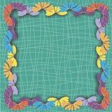 Quadro das flores em um fundo verde Imagens de Stock Royalty Free