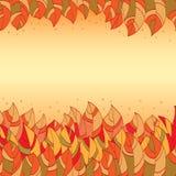 Quadro das folhas coloridas abstratas Imagem de Stock Royalty Free