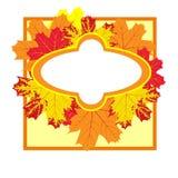 Quadro das folhas de outono coloridas Fotografia de Stock Royalty Free