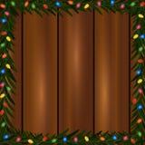 Quadro das luzes de Natal Imagem de Stock Royalty Free