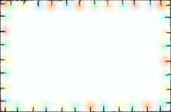 Quadro das luzes de Natal Imagens de Stock