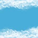 Quadro das nuvens no fundo azul Fotos de Stock