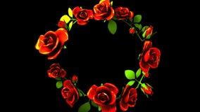 Quadro das rosas vermelhas no espaço preto do texto vídeos de arquivo
