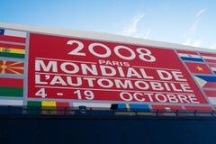 Quadro de avisos 2008 da mostra de motor de Paris Foto de Stock Royalty Free
