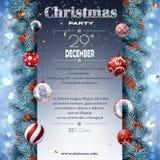 Quadro de avisos da decoração do Natal com ramos do abeto fotos de stock royalty free