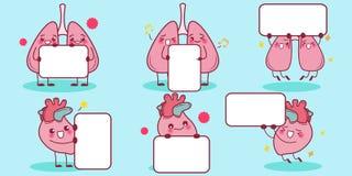 Quadro de avisos da posse do coração e do pulmão Imagem de Stock
