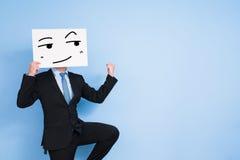 Quadro de avisos da tomada do homem de negócios Imagens de Stock