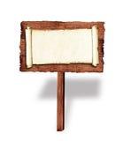 Quadro de avisos de madeira imagens de stock